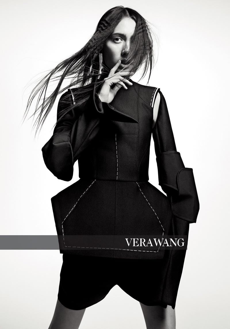 Teddy Quinlivan stars in Vera Wang fall-winter 2018 campaign