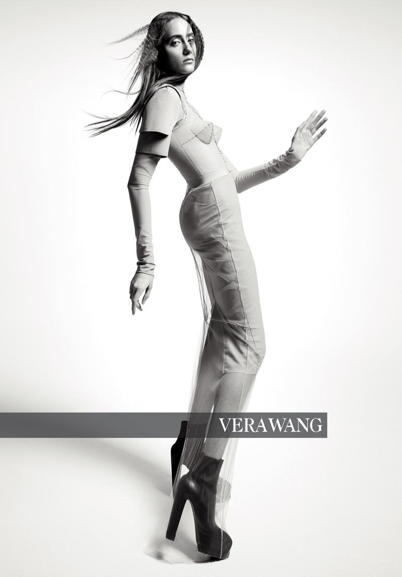 Lia Pavlova appears in Vera Wang fall-winter 2018 campaign