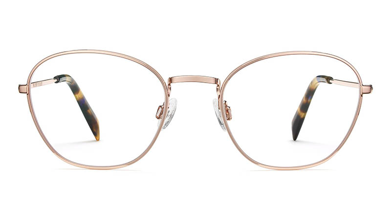 Warby Parker Colby Glasses in Rose Gold $145