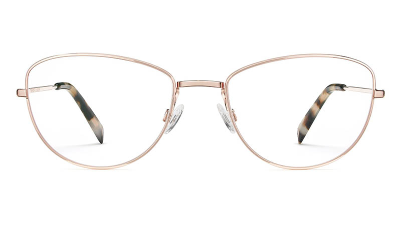 Warby Parker Georgia Glasses in Rose Gold $145