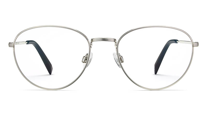 Warby Parker Hawkins Glasses in Antique Silver $145