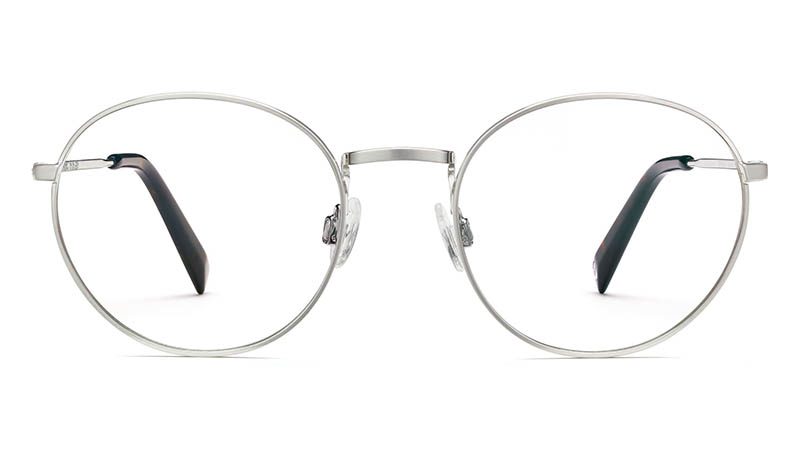 Warby Parker Simon Glasses in Antique Silver $145