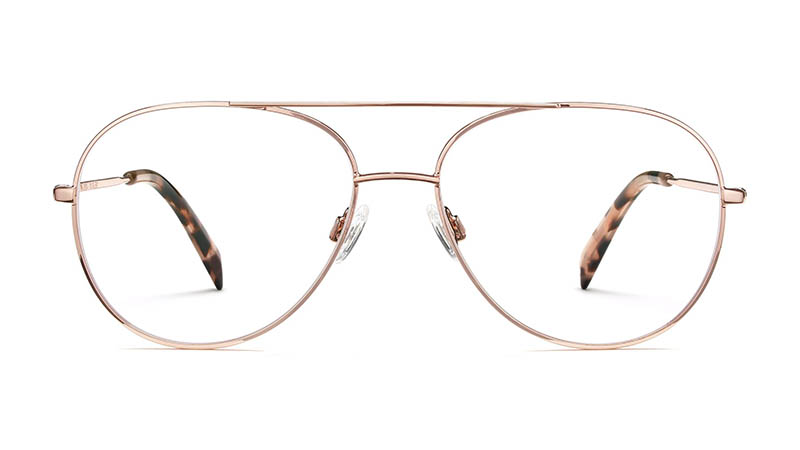 Warby Parker York Glasses in Rose Gold $145