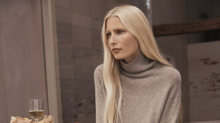 Kirsty Hume models Zara Home fall-winter 2018 Timeless Essentials collection