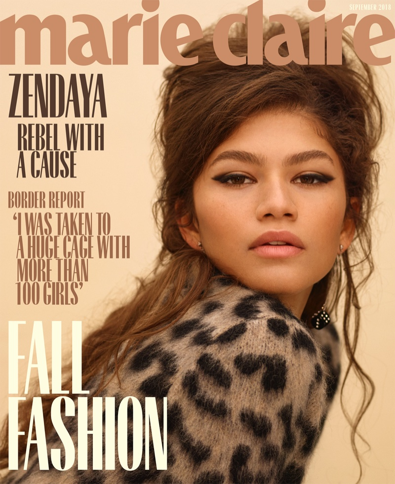 Zendaya on Marie Claire US September 2018 Cover