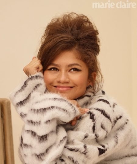 Flashing a smile, Zendaya wears Givenchy top
