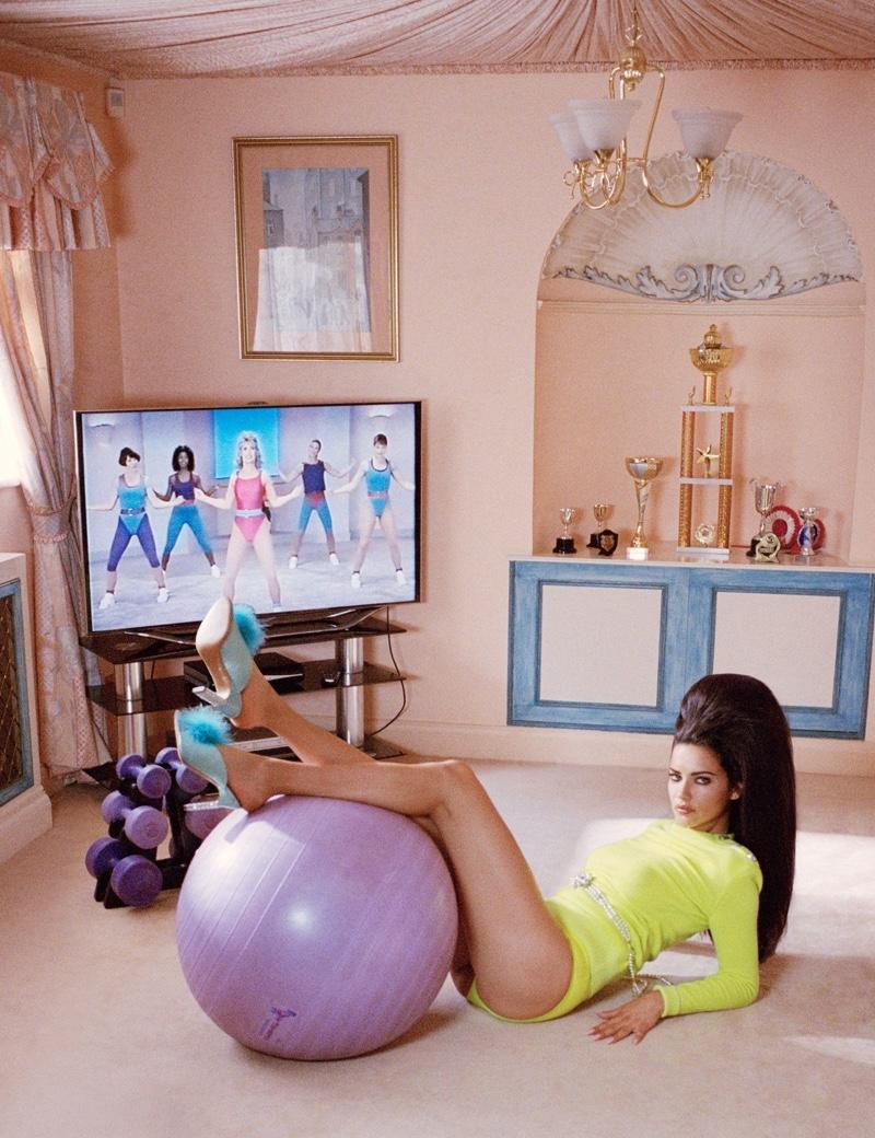 Adriana Lima Plays a Fashionable Housewife for W Magazine