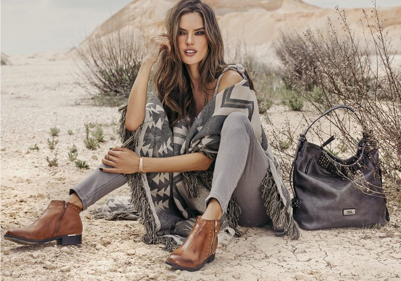 Alessandra Ambrosio channels western style for XTI Shoes fall-winter 2018 campaign