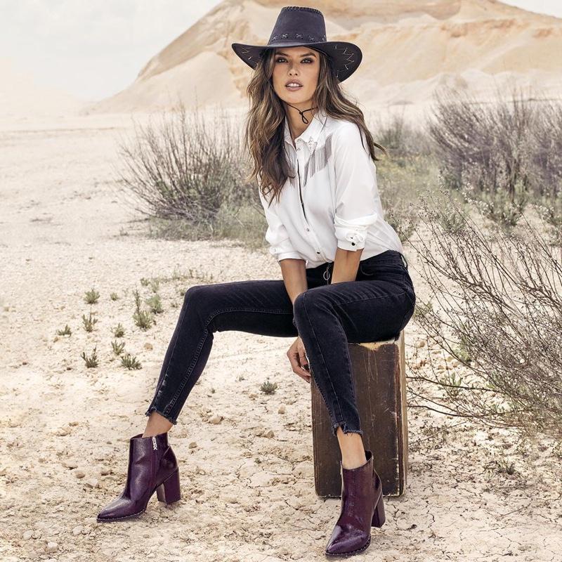 Alessandra Ambrosio stars in XTI Shoes fall-winter 2018 campaign