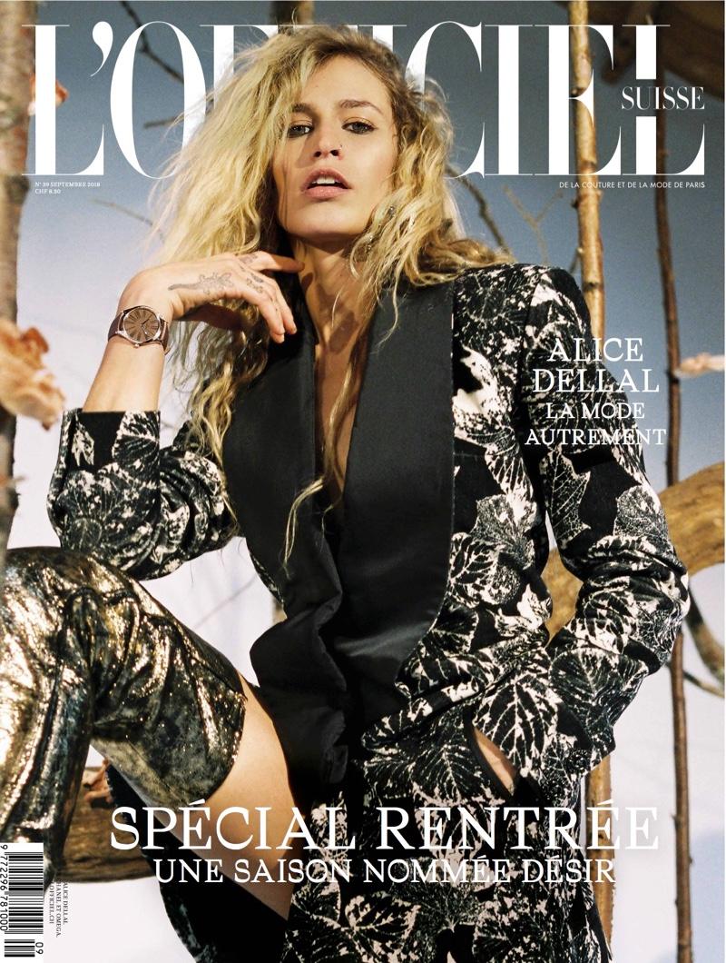 Alice Dellal on L'Officiel Switzerland September 2018 Cover