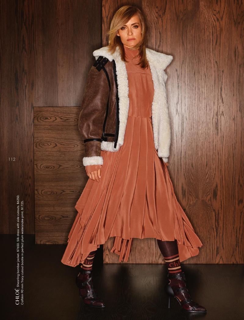 Amber Valletta Models Luxe Autumn Looks for Holt Renfrew