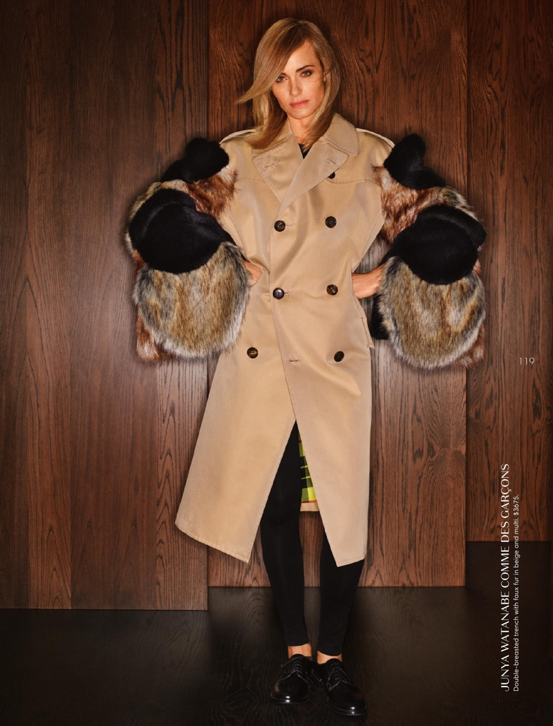 Amber Valletta Models Luxe Autumn Looks for Holt Renfrew