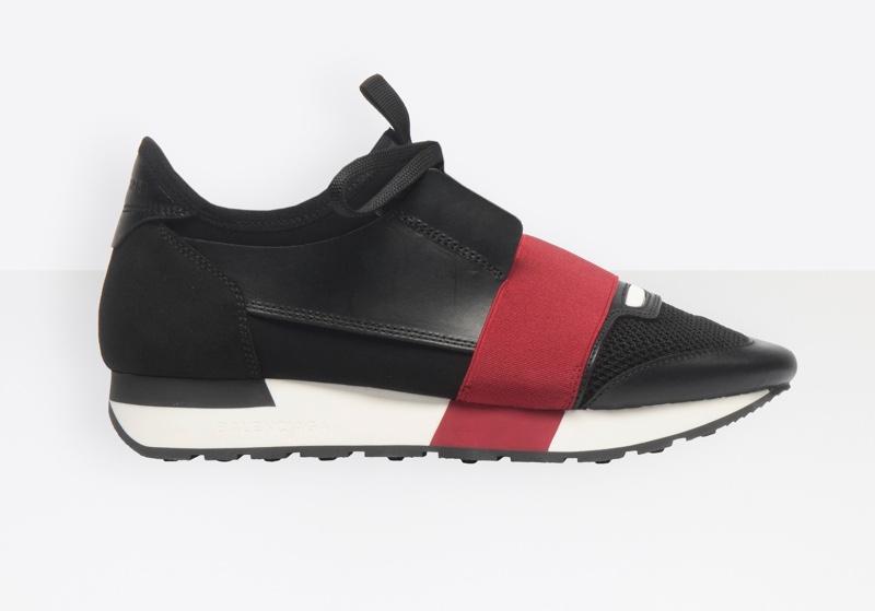 Balenciaga Race Runner Sneakers in Black/Bordeaux $695