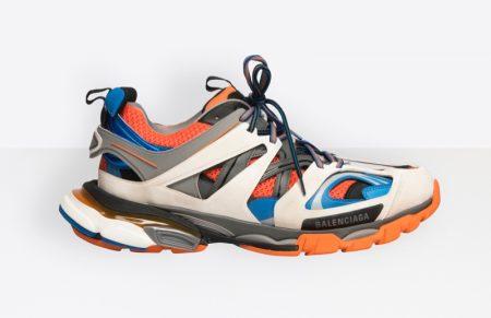 Balenciaga Track Sneakers in Orange $850