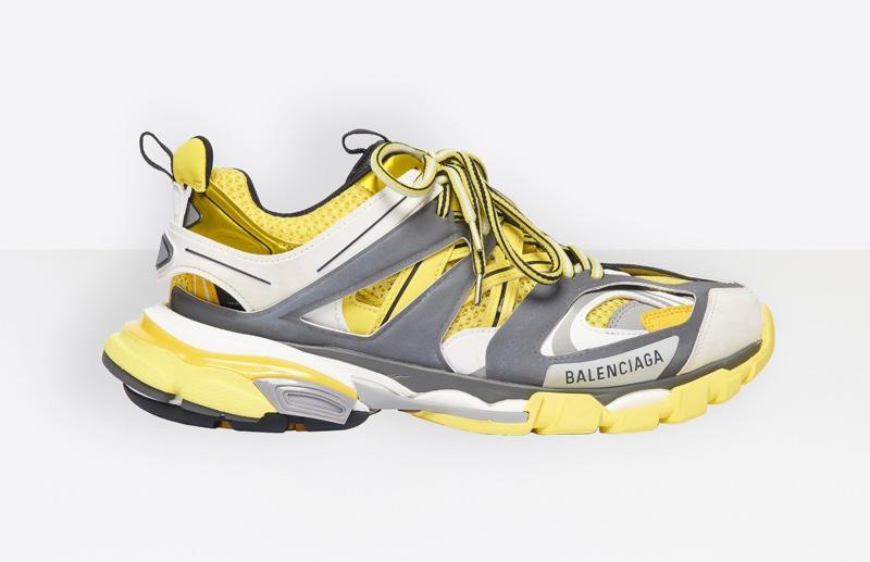 Balenciaga Track Sneakers in Yellow/Grey $850