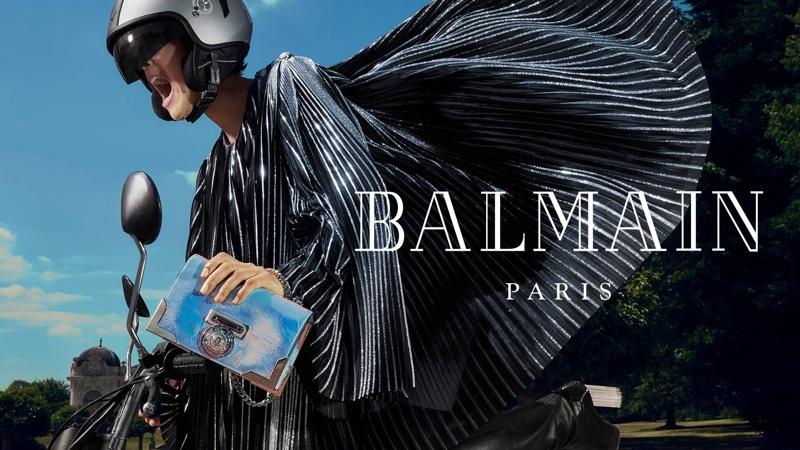 Izzy Alisha appears in Balmain fall-winter 2018 campaign
