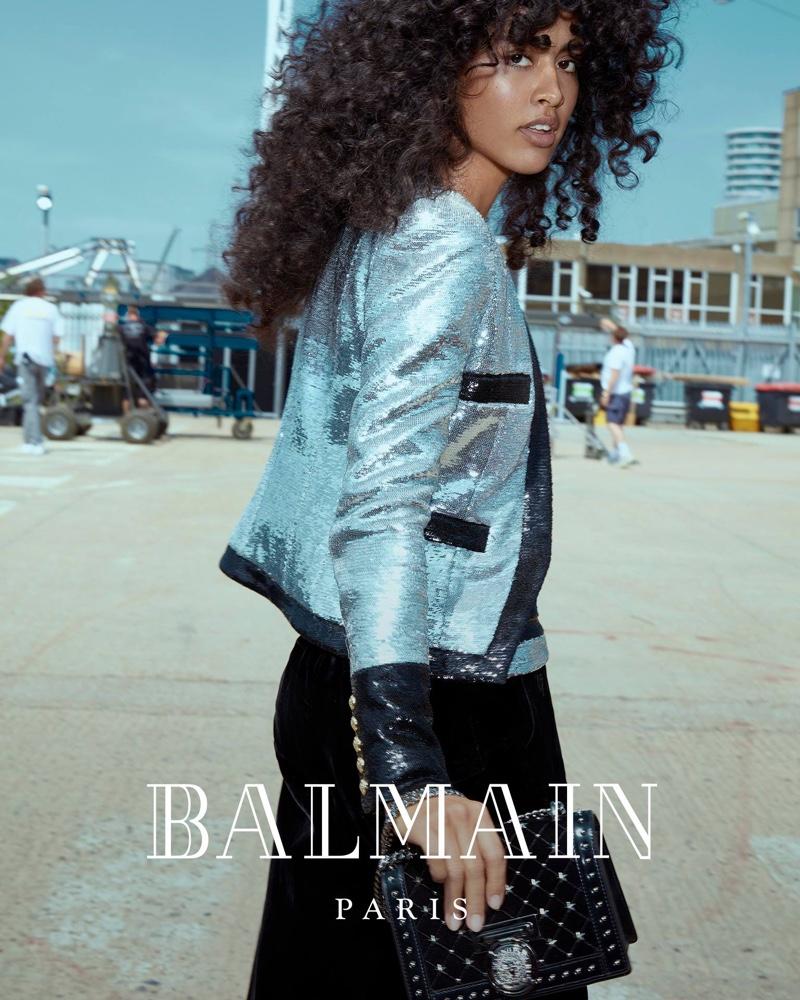 Luz Pavon fronts Balmain fall-winter 2018 campaign