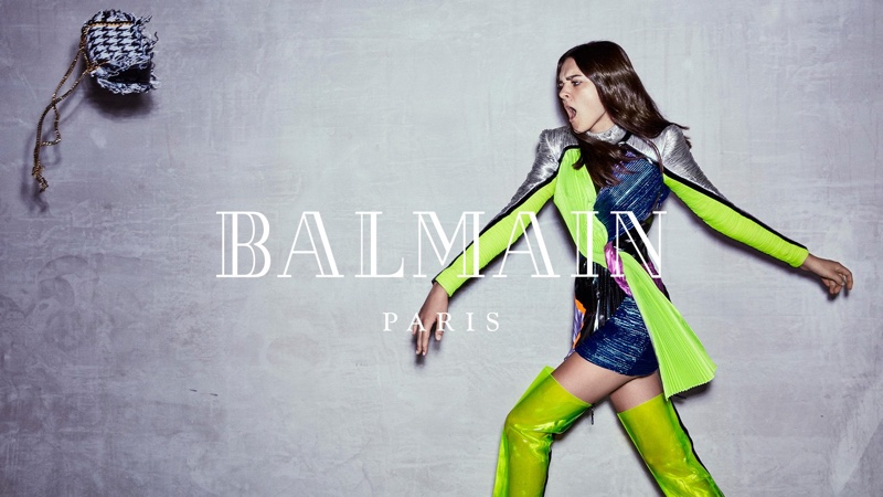 Charlotte Lawrence fronts Balmain fall-winter 2018 campaign