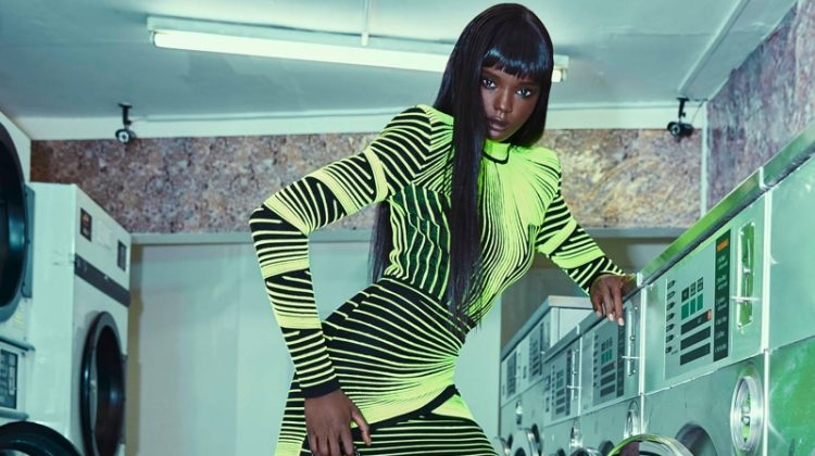 Duckie Thot stars in Balmain fall-winter 2018 campaign
