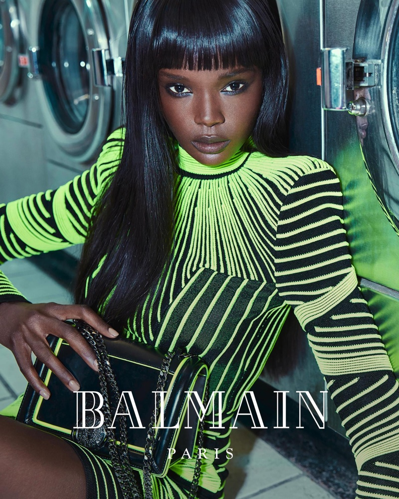 Balmain enlists Duckie Thot for its fall-winter 2018 campaign