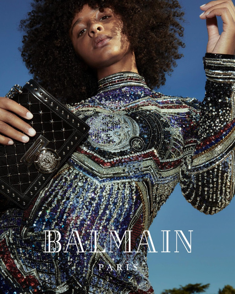 Mina Rose stars in Balmain fall-winter 2018 campaign