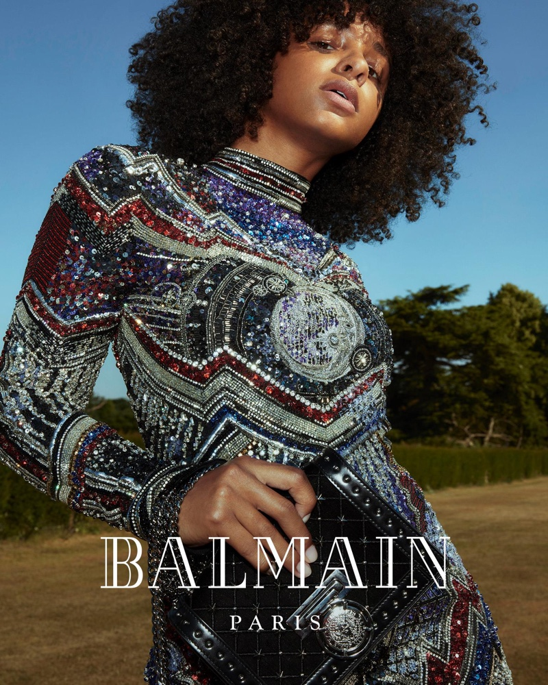 Balmain taps Mina Rose for Balmain fall-winter 2018 campaign