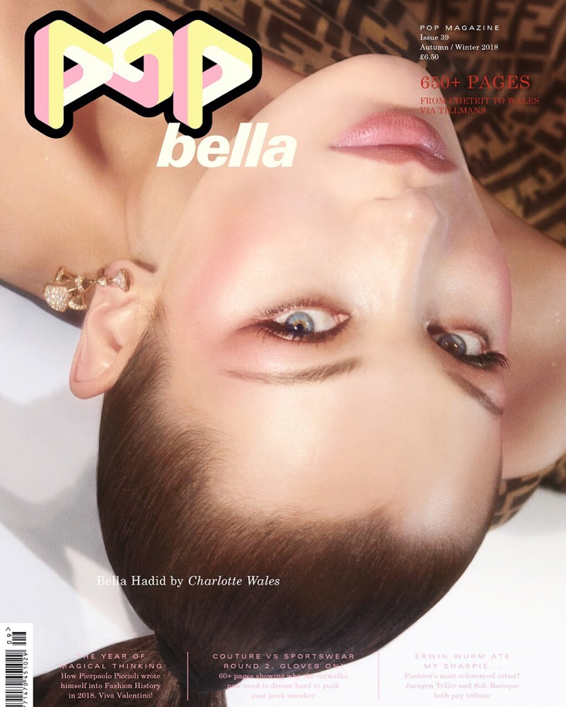 Bella Hadid is On Display for POP Magazine Cover Story