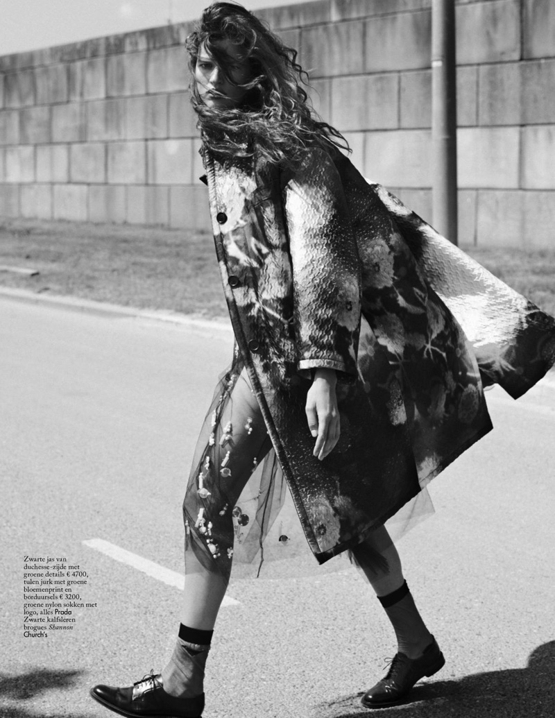 Bette Franke Poses in Roomy Coats for Vogue Netherlands