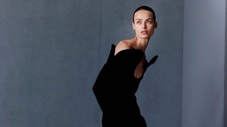 Birgit Kos Enchants in Fall Dresses & Gowns for Vogue Japan