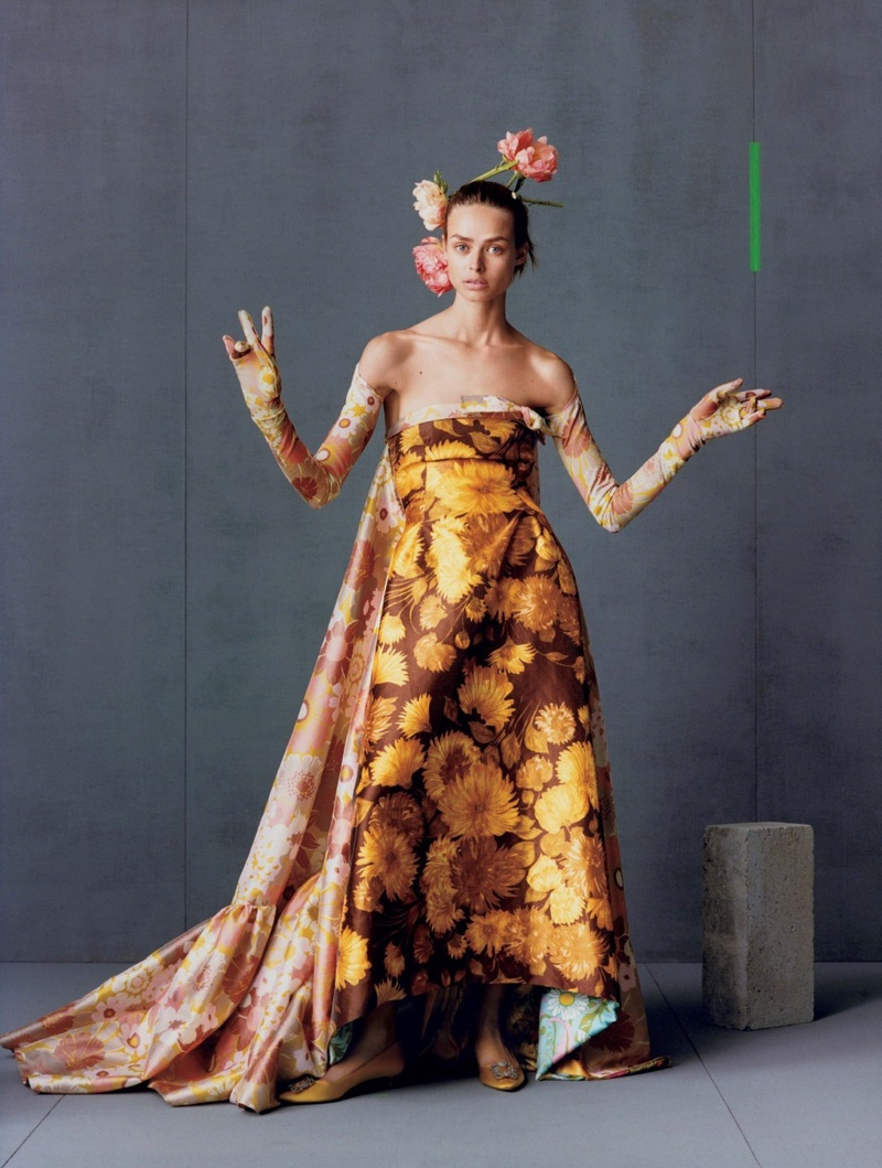 Birgit Kos Enchants in Fall Dresses & Gowns for Vogue Japan