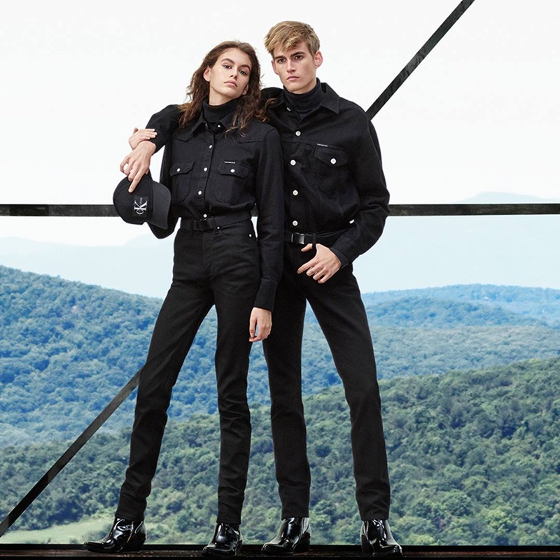 Kaia Gerber and Presley Gerber star in Calvin Klein Jeans fall-winter 2018 campaign