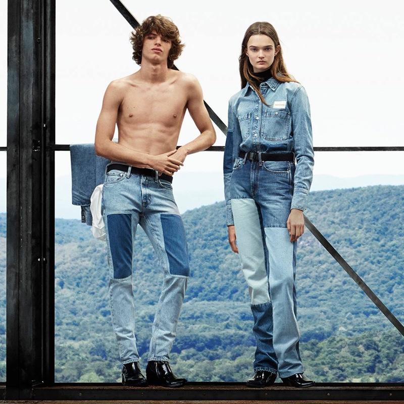 Fernando Albaladejo and Lulu Tenney star in Calvin Klein Jeans fall-winter 2018 campaign