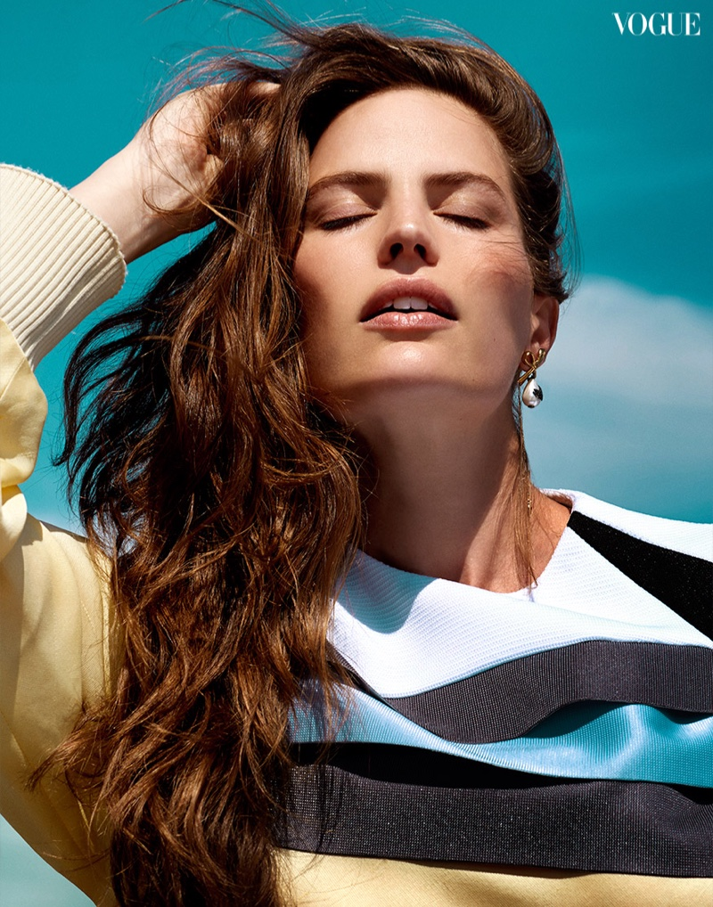 Cameron Russell Wears Sleek Styles for Vogue Thailand