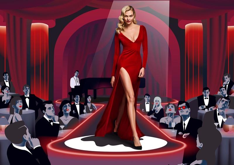 Karlie Kloss stars in Carolina Herrera Good Girl Velvet Fatale fragrance campaign