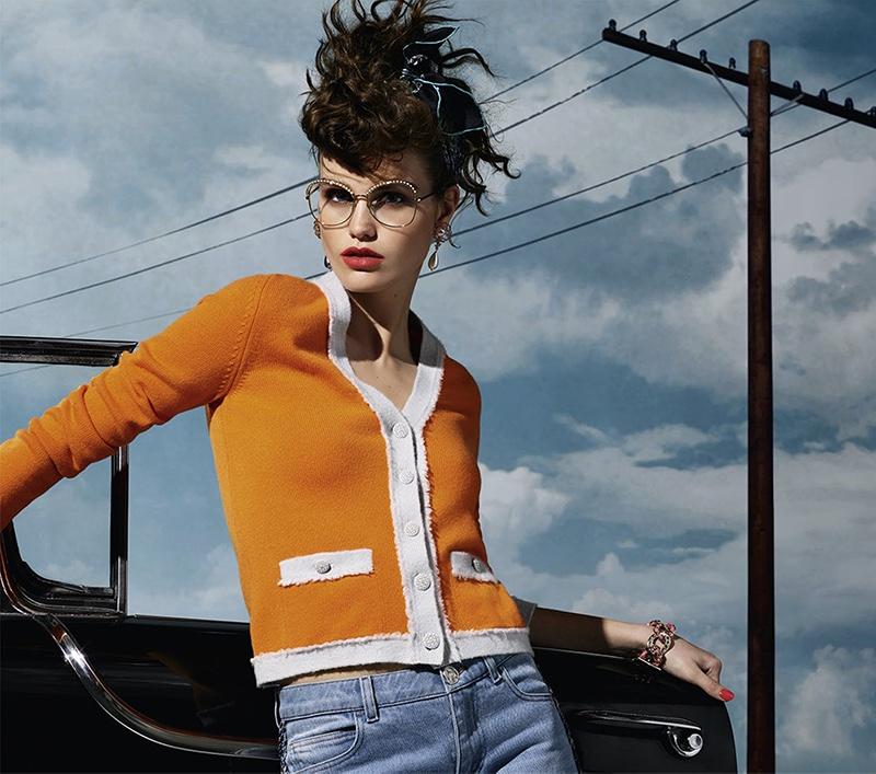 Karl Lagerfeld photographs Chanel Eyewear fall-winter 2018 campaign