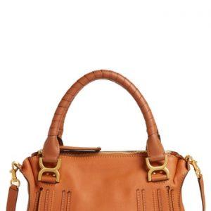 Chloe 'Medium Marcie' Leather Satchel - Beige
