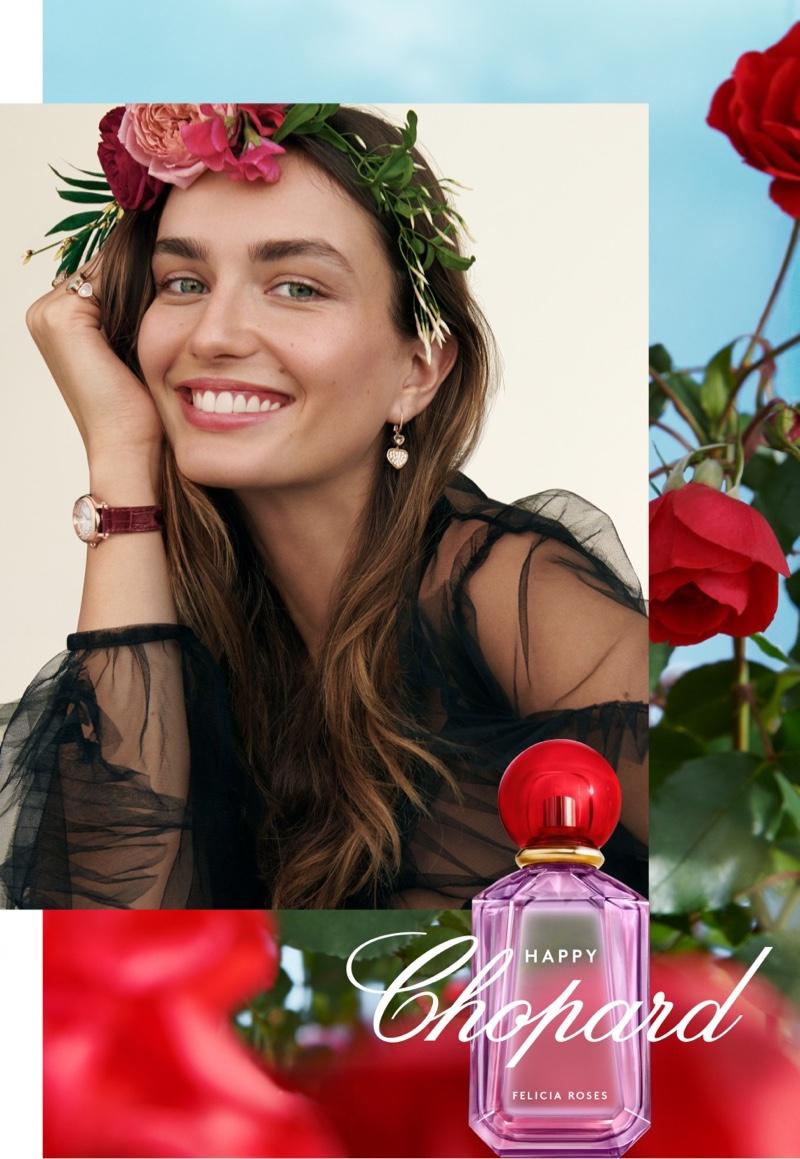 Andreea Diaconu stars in Chopard Happy fragrance campaign
