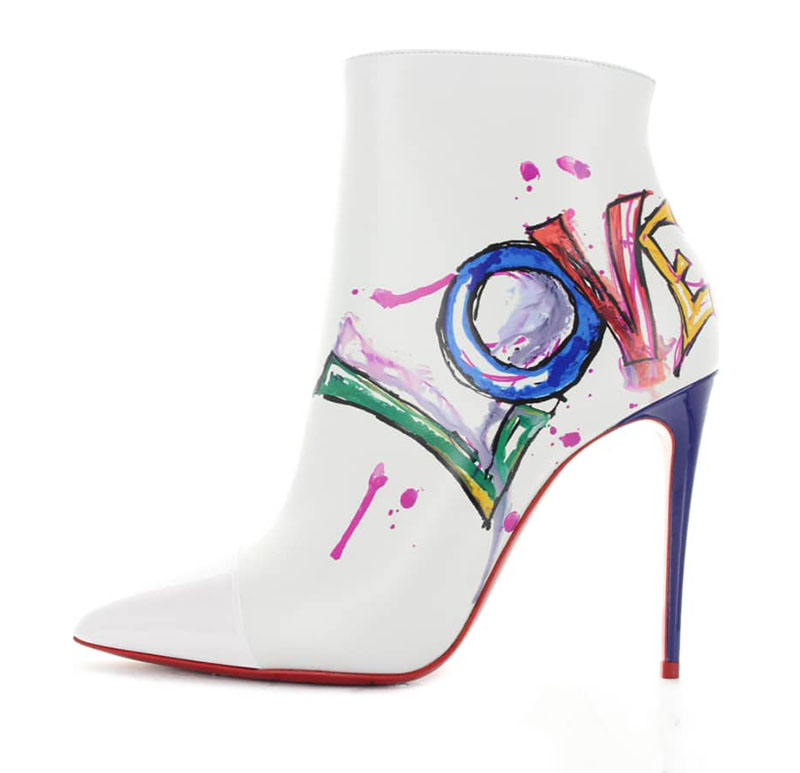 Christian Louboutin Love Pointy Toe Bootie $1,245