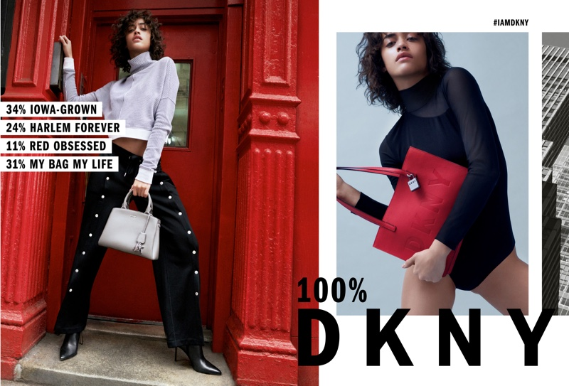 Alanna Arrington star in DKNY fall-winter 2018 campaign