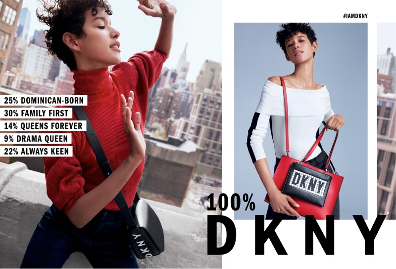 Dilone appears in DKNY fall-winter 2018 campaign