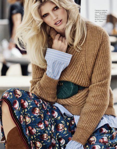 Devon Windsor Models Fall Street Style for ELLE Russia