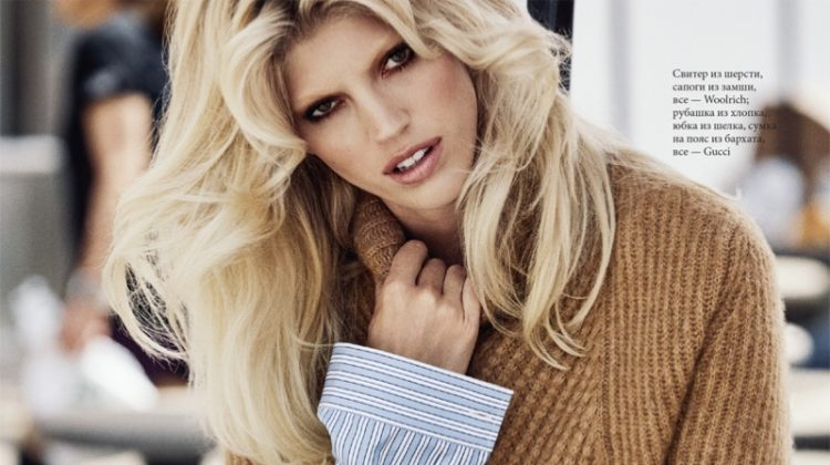 Devon Windsor Models Fall Street Style for ELLE Russia