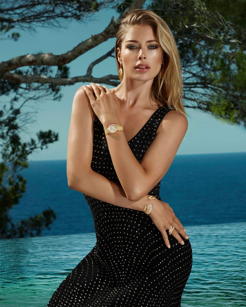 Model Doutzen Kroes fronts Piaget Limelight Gala watch campaign