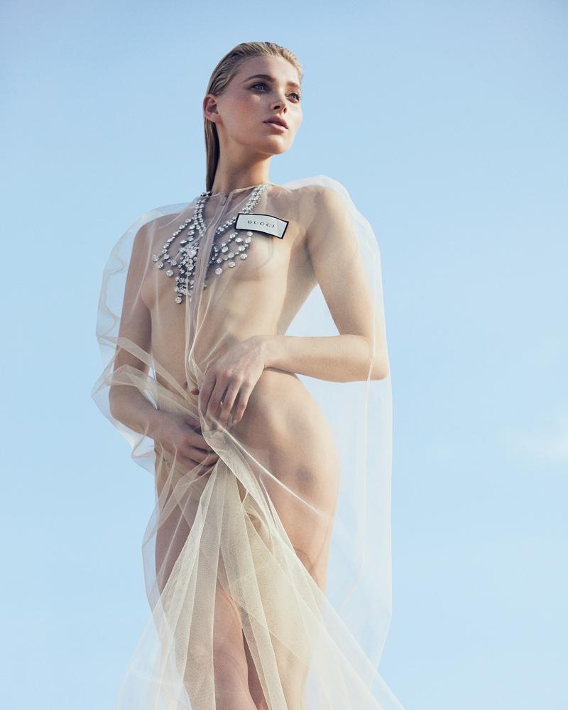 Elsa Hosk posa em moda sensual e elegante para a ELLE