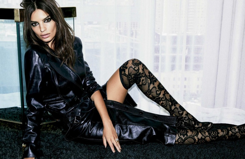 Emily Ratajkowski Smolders in All Black Looks for Vogue Mexico