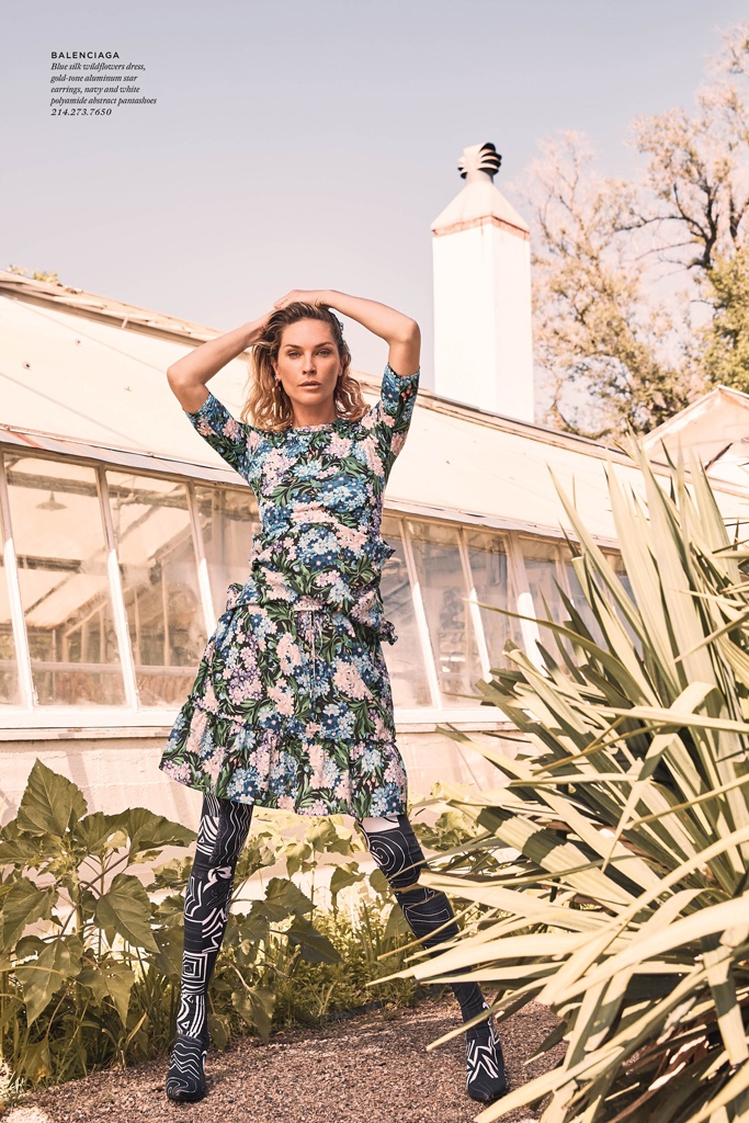 Erin Wasson Poses in Carefree Fashion for Highland Park Village
