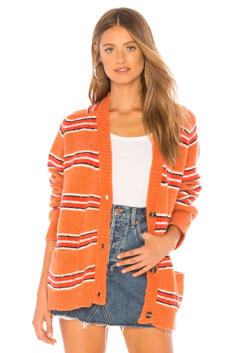 For Love & Lemons Charlie Striped Cardigan $202