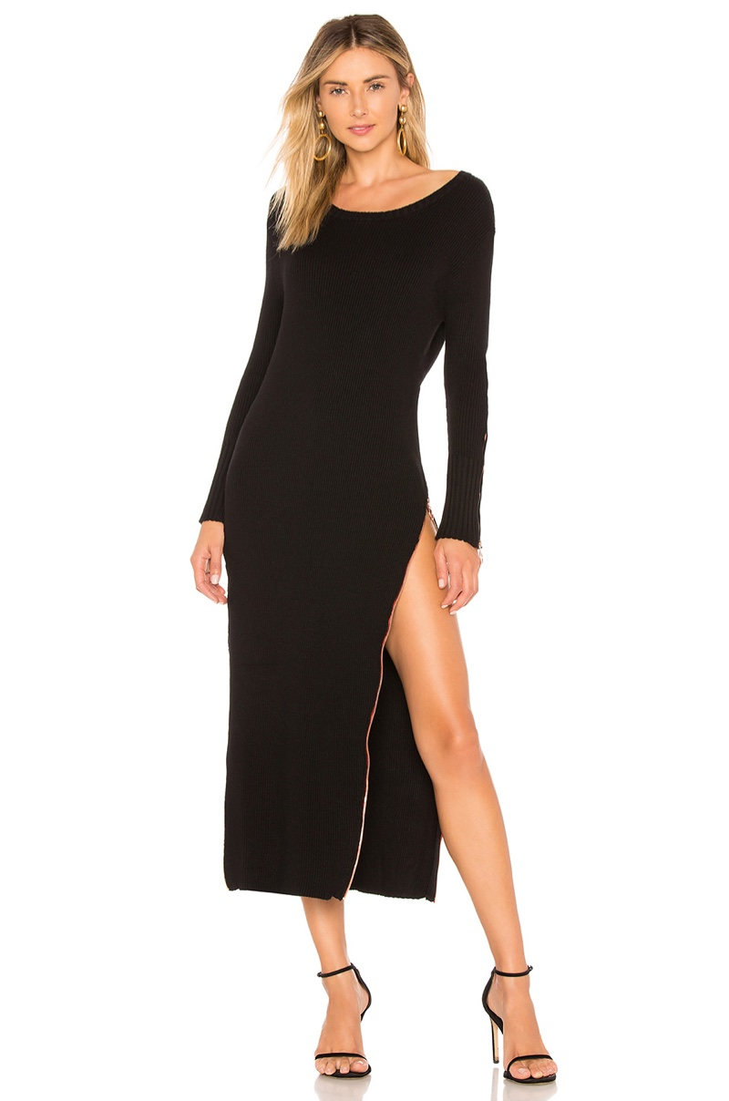 For Love & Lemons Harley Zipper Midi Dress $304
