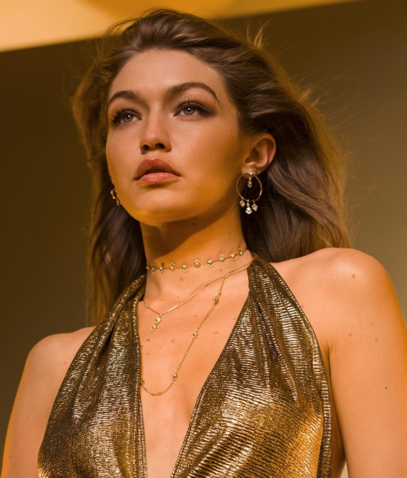 BEHIND THE SCENES: Gigi Hadid on set of her latest Messika jewelry campaign