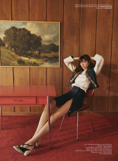 Grace Hartzel Wears Modern Retro Styles for Vogue Turkey